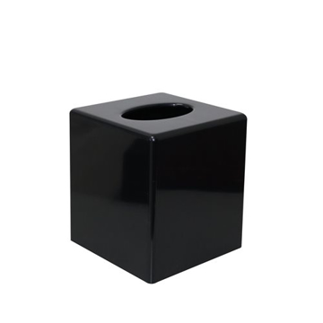 Picture of Black Cube Tissue Box