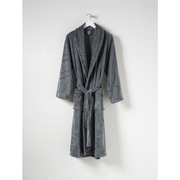 Picture of Charcoal Bath Robe - Microfibre