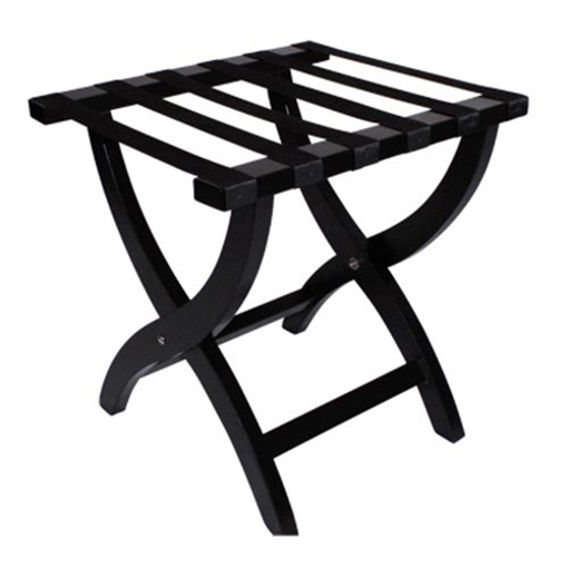 Picture of Elite Wooden Luggage Rack - Black
