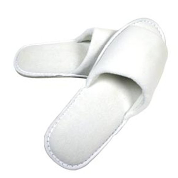 Picture of White SOHO Velour Open Toe Slippers