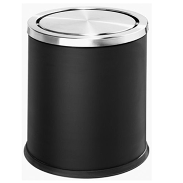 Picture of Guest Room Flip Top Rubbish Bin - Black