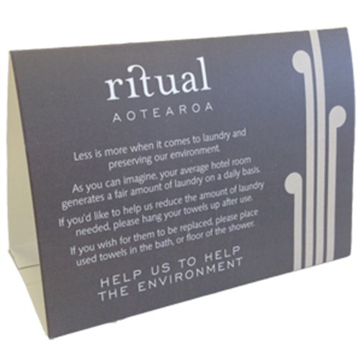 Picture of Ritual - Environmental Tent Card