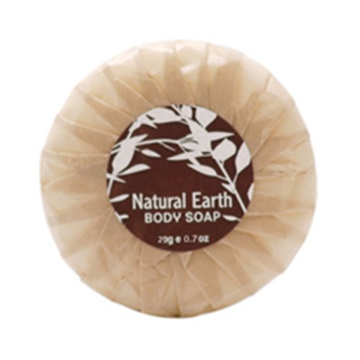 Picture of Natural Earth - 20gm Pleat Wrapped Soap