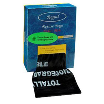 Picture of Black Biodegradable Rubbish Bags