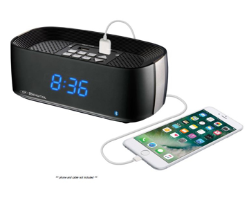 Picture of Q7 Radio Alarm Clock with Bluetooth Speaker