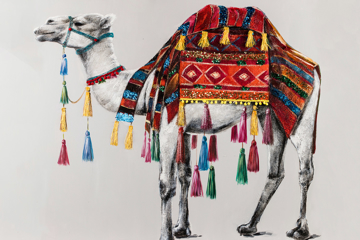 Picture of Camel Beauty Oil Painting