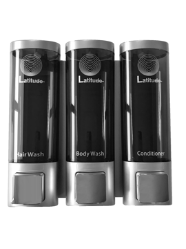 Picture of Latitude Body Wash, Hair Wash & Conditioner Triple Wall Dispenser