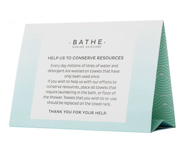Picture of Bathe - Environmental Tent Card
