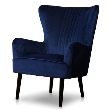 Picture of Astana Chair- Royal Blue Velvet