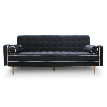 Picture of New York Sofa Bed - Black Velour
