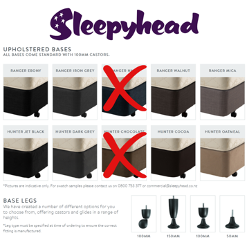 Picture of Upholstered Bed  Bases & Legs