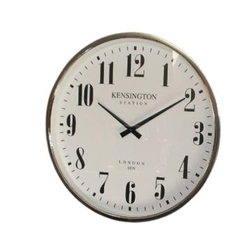 Picture of Kensington White & Silver Clock